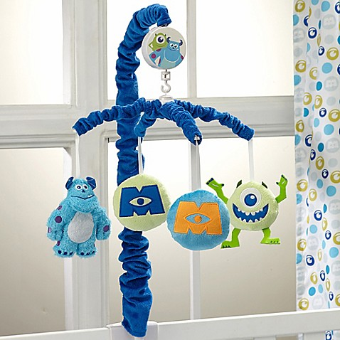 Disneyr monsters at play crib bedding collection gt disney for Monsters inc bathroom scene