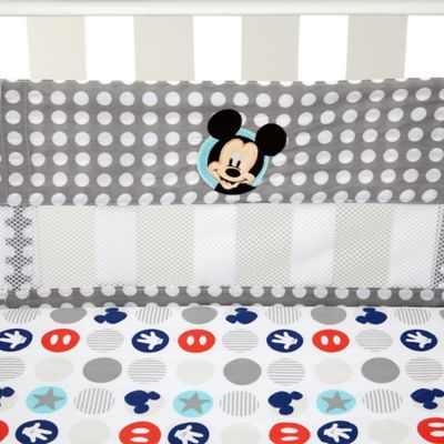 Disney® Mickey's Best Buddies Secure-Me Mesh Crib Liner