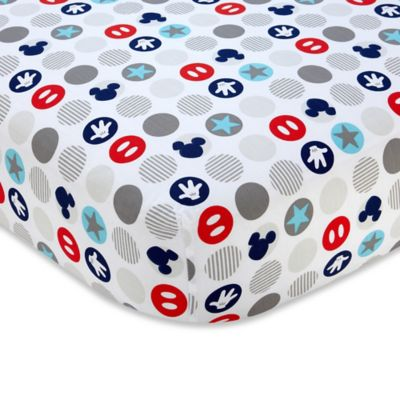 Disney® Mickey's Best Buddies Fitted Crib Sheet