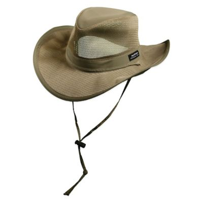 Panama Jack Large Mesh Seven Seas Safari Hat in Khaki