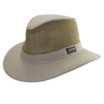 Panama Jack® Medium Mesh Safari Hat in Khaki