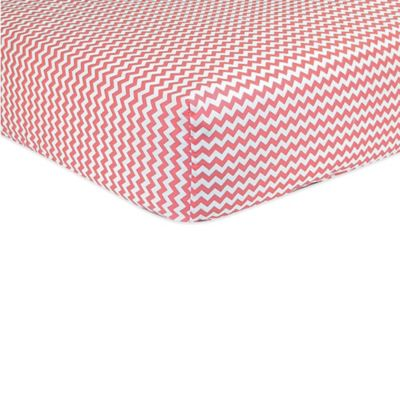 Trend Lab® Cocoa Coral Chevron Fitted Sheet