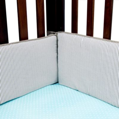 Trend Lab® Cocoa Mint 4-Piece Crib Bumper Set