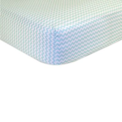 Trend Lab® Cocoa Mint Fitted Crib Sheet