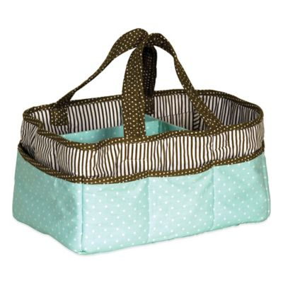 Trend Lab® Cocoa Mint Diaper Caddy