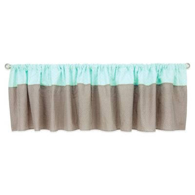 Trend Lab® Cocoa Mint Window Valance