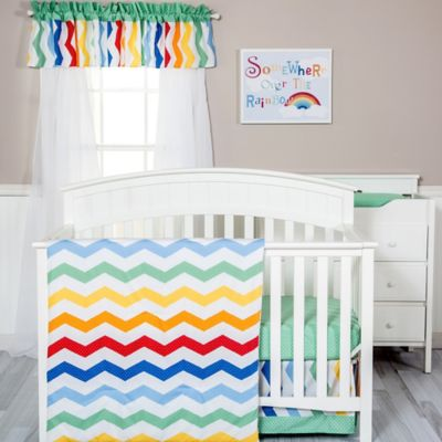 Trend Lab® Happy Chevron 3-Piece Crib Bedding Set