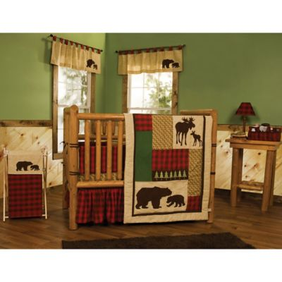 Green and Brown Nursery Bedding