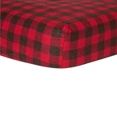 Red and Brown Crib Bedding