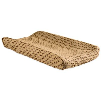 Trend Lab® Northwoods Bear and Moose Changing Pad Cover in Tan/Brown