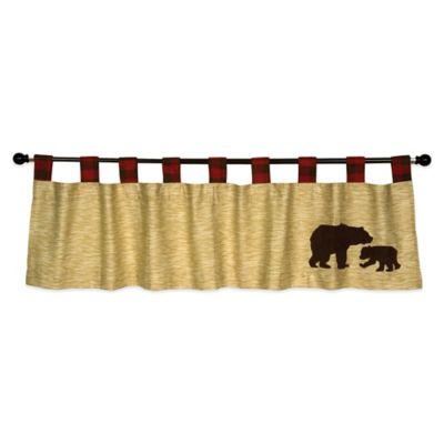 Brown and Red Valances