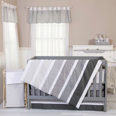 Trend Lab® Ombre Grey 3-Piece Crib Bedding Set