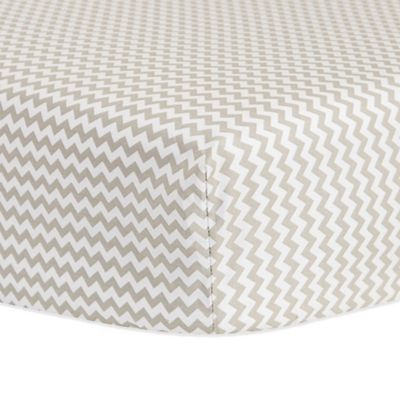 Trend Lab® Chevron Fitted Crib Sheet in Dove Grey