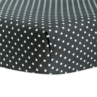 Trend Lab® Dot Fitted Crib Sheet in Black/White