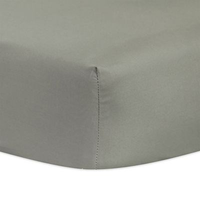 Trend Lab® Neutral Fitted Crib Sheet in Grey