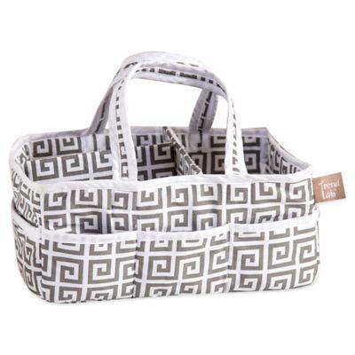 Trend Lab® Ombre Grey Greek Key Diaper Caddy