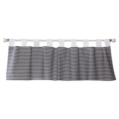 Grey White Window Valance