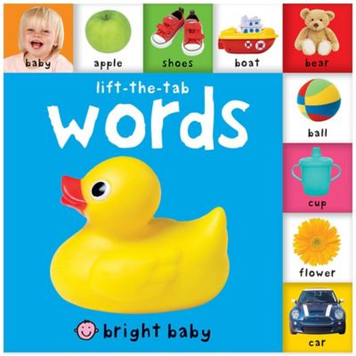 Bright Baby Lift-the-Tab: Words Board Book