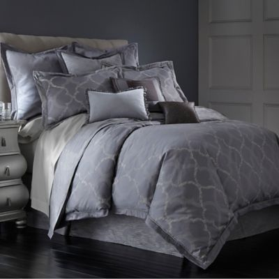 Waterford Couture® Luxury Italian-Made Ogee Reversible King Duvet Cover