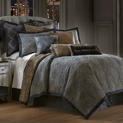 Waterford Couture® Luxury Italian-Made Trentino King Duvet Cover in Ash Grey