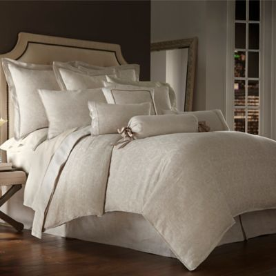 Waterford Couture® Luxury Italian-Made Lino Standard Pillow Sham in Natural