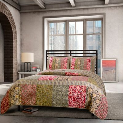 Agra Reversible Full/Queen Quilt Set in Multi