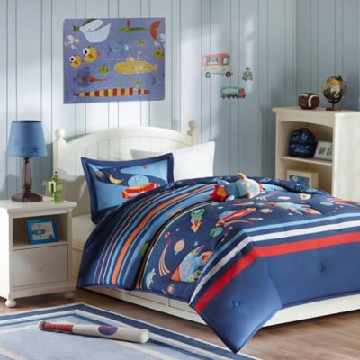 Mizone Kids Space Cadet 3-Piece Twin Comforter Set in Blue