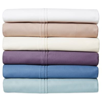 Crowning Touch 500-Thread Count Wrinkle Free and Fade No More Technology Twin Sheet Set in Aqua Blue