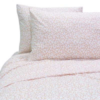Coral Reef Twin Sheet Set in Coral