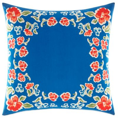 Teen Vogue® Rosie Posie Square Throw Pillow in Red/Blue
