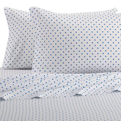Teen Vogue® Rosie Posie Twin Sheet Set in White/Blue