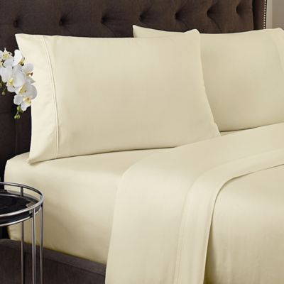 Crowning Touch 500-Thread Count Wrinkle Free and Fade No More Technology Full Sheet Set in Ivory