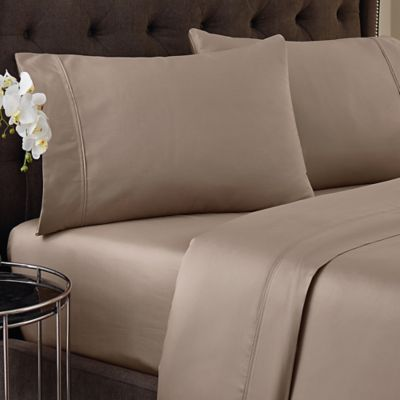 Crowning Touch 500-Thread Count Wrinkle Free and Fade No More Technology Full Sheet Set in Linen