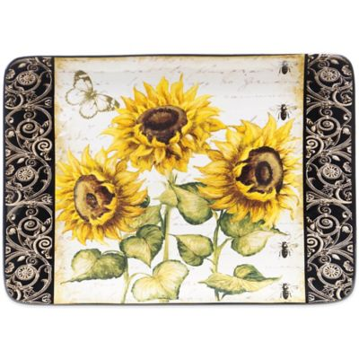 Certified International French Sunflower Rectangular Platter