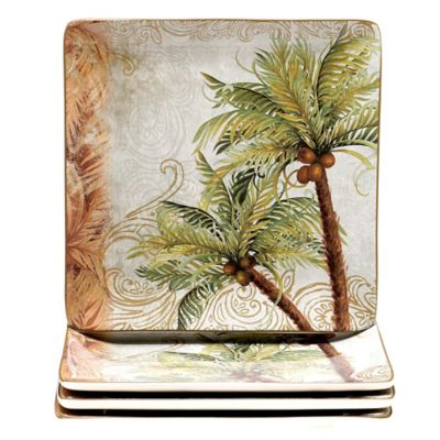 Certified International Key West Dinner Plates (Set of 4)