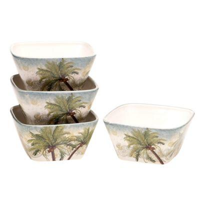Certified International Key West Ice Cream Bowls (Set of 4)