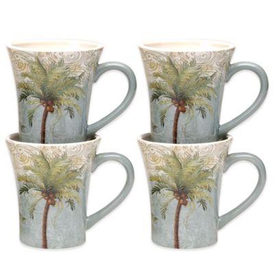 Certified International Key West Mugs (Set of 4)