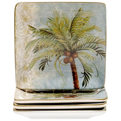 Certified International Key West Canape Plates (Set of 4)