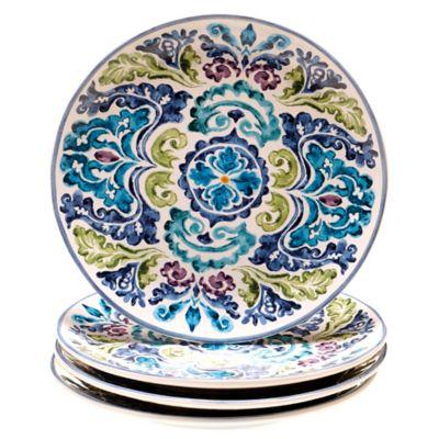 Certified International Mood Indigo Dinner Plates (Set of 4)