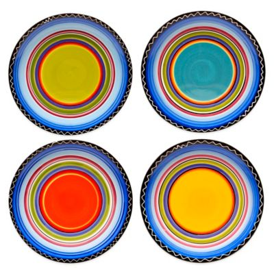 Certified International Tequila Sunrise Dinner Plates (Set of 4)