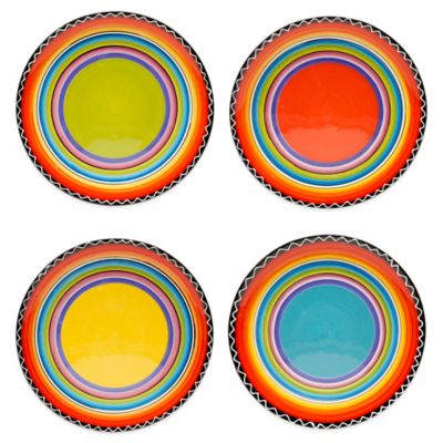 Certified International Tequila Sunrise Salad Plates (Set of 4)