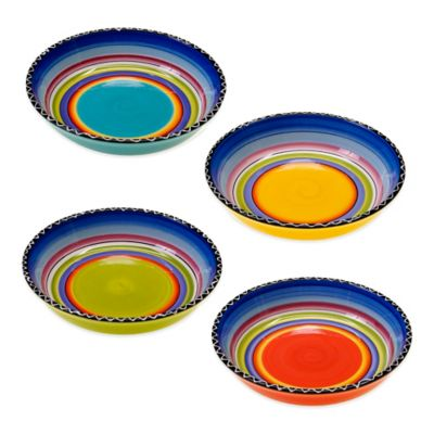 Certified International Tequila Sunrise Assorted Soup/Pasta Bowls (Set of 4)