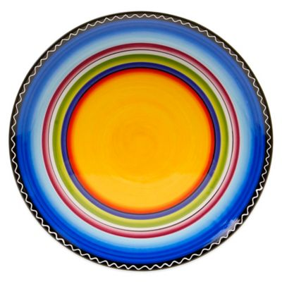Certified International Tequila Sunrise Round Platter