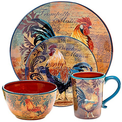 Certified International Rustic Rooster Dinnerware And