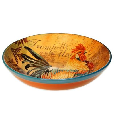 Certified International Rustic Rooster Pasta/Serving Bowl