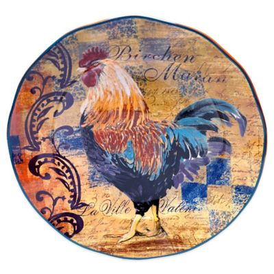Certified International Rustic Rooster Round Platter