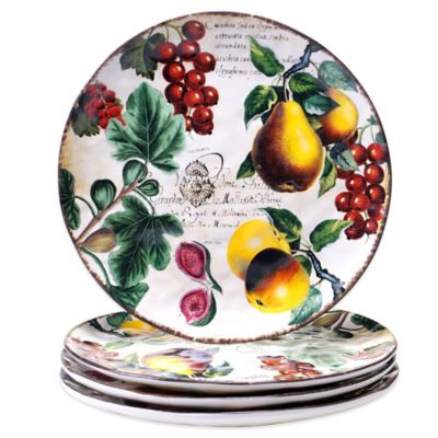 Certified International Botanical Fruit Dinner Plates (Set of 4)