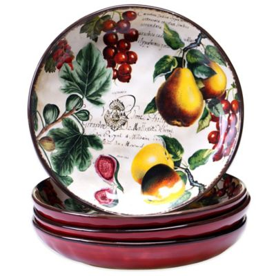 Certified International Botanical Fruit Soup Bowls (Set of 4)