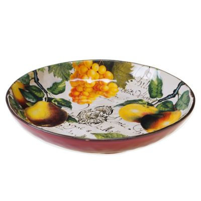 Certified International Botanical Fruit Pasta/Serving Bowl