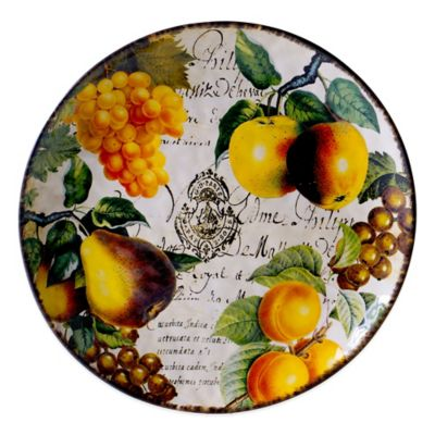 Certified International Botanical Fruit Round Platter